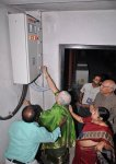 Mrs. Neelakantan powering the air conditioning of the auditorium
