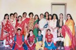 Suparna Sankaran: Ethnic wear fashion Parade organised by my mother, in white sari,partcipants were the Samaj members children