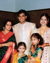 A file photo of Madhavan at his marriage ceremony in Mumbai.