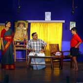 A Tamil play in progress at Madrasi Sammelan in Bistupur. Picture by Bhola Prasad