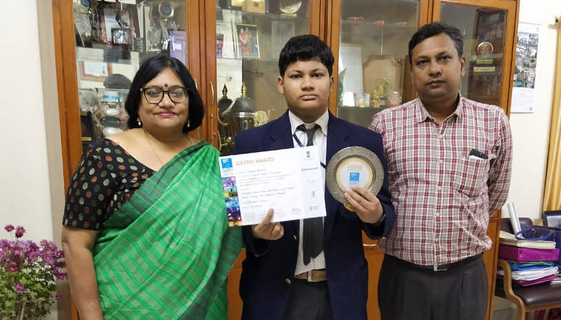 Subhigya Priyansh of D.B.M.S. English School will represent team India at International Science and Engineering Fair (ISEF)